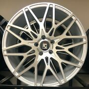 20 Giovanna Funen Silver Wheels Audi A4 A5 A6 A8 S6 S7 S8 Q5 A7 With Tires New