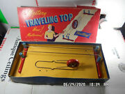Vintage Mystery Traveling Top Wooden Magnetic Spinning Wheel