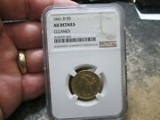 Rare 1841 D 5 Dollar Liberty Gold Coin N Ngc About Uncirculated Condition