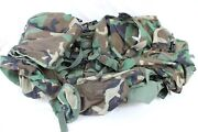 Woodland Camo Large Field Pack W/ Internal Frame And Combat Patrol Pack Military