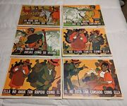 Vintage Spanish Posters Classroom Colorful Great Graphics Us Dept Hew Univ Of Ca