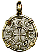 Knights Templar Crusader 1152ad Coin Pendant Jewelry Pirate Gold Coins Treasure