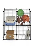 Color Wired Storage Cube • Toys,sports, Utility Rack Shelf Room Kids New