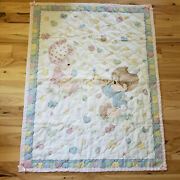 Precious Moments Baby Quilt Comforter Blanket Boy Girl Butterfly Star Heart