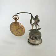 F324 Antique Pocket Watch Holder Case Stand Collectible Fisherman