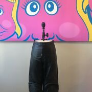 Gianfranco Ferre Menand039s Leather Motorcycle Pants Black Size 56