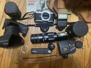 Pentax Camera Af200s Used - Good Condition With Accesories Flash , Winder, Lens