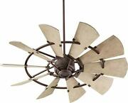 Quorum 195210-86 Windmill 52 Ceiling Fan With Wall Control, Oiled Bronze