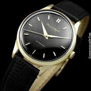 1958 Vintage Mens Full Size Cal. 853 18k Gold Watch - Mint With Warranty