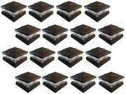 16 Pack 5x5 6x6 Solar Power Plastic Brown 5 Led Fence Post Cap Pathway Light