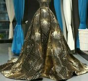 Long Evening Gown Dress With Train Lace Up Back Prom Sequined Women Dresses Wear
