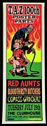 Red Aunts Poster Bloodthirsty Butchers Copass Grinderz Silkscreen By Taz Party