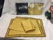 Gianni Versace Placemats And Napkins Mint Set Of 4 Genuine