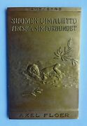 Finland Swimming Federation Honour Plaque Medal For Norway Swimming Leader