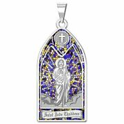 Saint Jude Thaddeus - Stained Glass Religious Medal