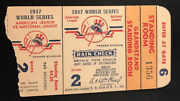1947 World Series Ticket Pass Jackie Robinson 1st Afro-american Hit/rbi/sb Ws