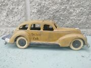 Vint Cast Iron Yellow Taxi Cab. Heavy Item. 8.5 Over 2 Lb Intact Luggage Rack
