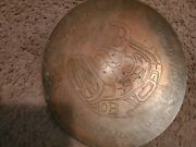Vintage Arts And Crafts Hand Made Hand Hammered Footed Fruit Bowl Copper 12.5