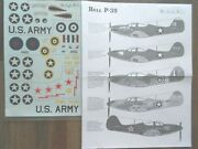 Bell P-39f/p-400 Airacobra 5 Us Army/raf/russian Msap Decals 1/48