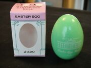 2020 White House Easter Egg Wood Green New In Box Donald Trump -cancelled Event