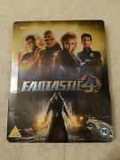 Fantastic 4 Four Steelbook Blu Ray Uk Rare Sold Out Sealed Region B Locked