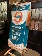 30 Foremost Butter Milk Embossed Tin Advertising Sign Watch Video