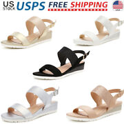 Dream Pairs Womenand039s Ankle Strap Low Wedge Sandals Cute Slingback Casual Shoes