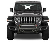 Black Horse Max T Bull Bar Grille Guards Black Texture For 10-17 Jeep Wrangler