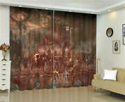 Avenger Covered Dark Brown Clouds Printing 3d Blockout Curtains Fabric Window