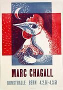 Le Coq Rouge By Marc Chagall - Very Rare Original Poster