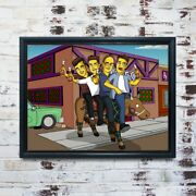 Moand039s Bar Custom Cartoon Portrait Personalised Simpsons Drawing Print And Frame