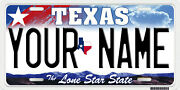 Houston Texas Personalized License Plate Your Name Any Text Custom Car Tag Tx
