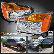 For 2004-2015 Nissan Titan 04-07 Armada Replacement Headlights Lamps Left+right