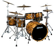 Ddrum Dios 5pc Zebrawood Shell Pack Exotic Gloss Natural