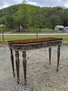 Vintage Harden French Country 6 Spider Leg Foyer/entry/sofa Table -- Walnut Top