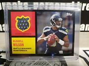 2013 Topps Archives Russell Wilson Relic Rc Card 62r-rw So Rare Wont See Again