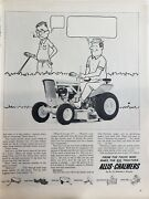 Lot 3 Vintage Lawn Mower Tractor Print Ads Homko Allis Chambers Jacobsen