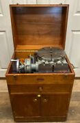 11andrdquo Moore Rotary Table Special Lrt 391 With Wooden Cabinet And Accesories