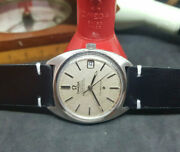 Vintage 1968 Omega Constellatioin Texture Silver Dial Cal564 Auto Manand039s Watch