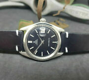 Vintage Rolex Tudor Oysterdate Small Rose Black Dial Manual Wind Manand039s Watch