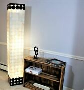 Black And White Onyx Floor Lamp 65 - Exclusive Bold Pattern