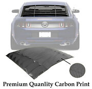 Carbon Print For 05-14 Ford Mustang Rear Window Louver Cover Wing New Design