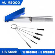 Motorcycle Carburetor Carbon Dirt Jet Remove Cleaning Needles + Brushes Tool Kit