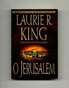 Laurie R King / O Jerusalem 1st Edition/1st Printing Signed 1999 17216