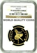 Russia 1993 Gold Coin 100 Ballet Ngc Pf68