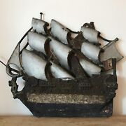 Rare 19th Century French Cast Iron Ship Chandler Trade Sign Antique Sign