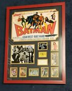 Batman Movie Autograph Display With Coa Signed