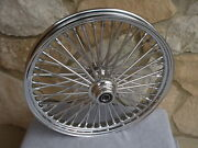 21x2.15 Chrome Fat 48 Spoke S/d Front Wheel Harley Fxst 2000-07 Fxdwg 2000-07