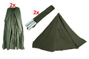 Polish Army Military Laavu Tent 2 Person Shelter Teepee Coat 2x Poncho / Size 3