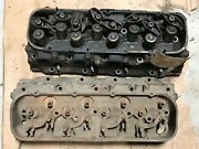 Original Gm Pair Of 346236 Bbc Oval Port Cylinder Heads 236 M 9 2 And B 3 4